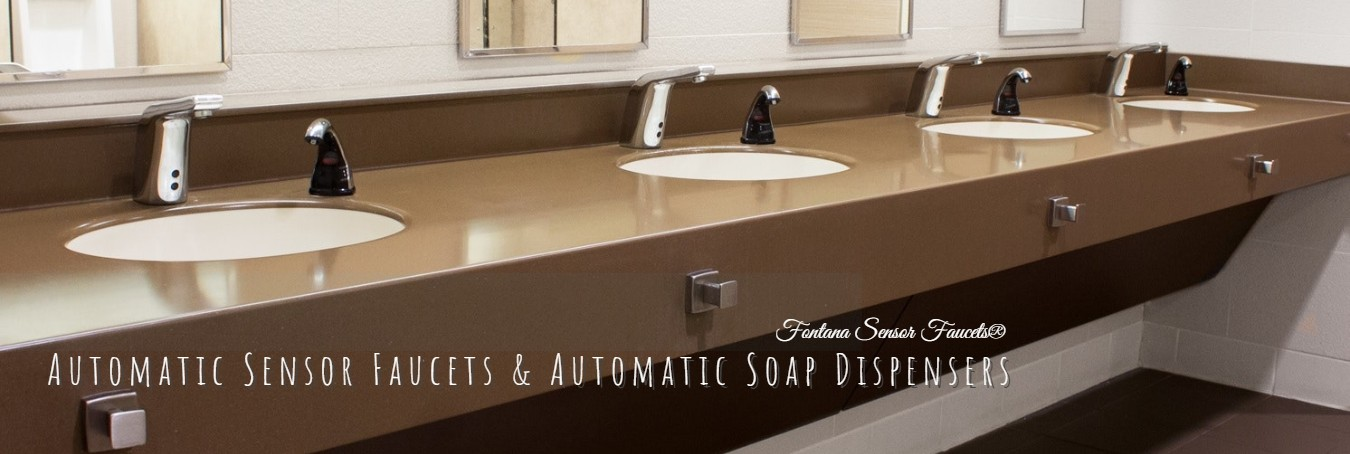 commercial motion sensor faucets and soap dispensers
