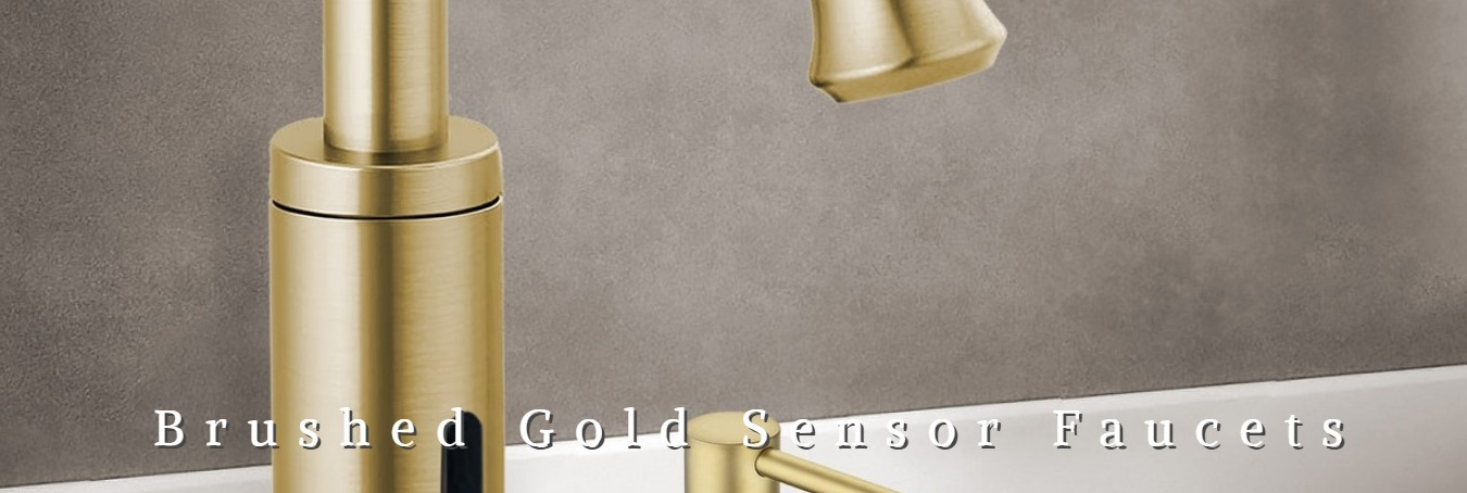 gold touchless sensor faucets