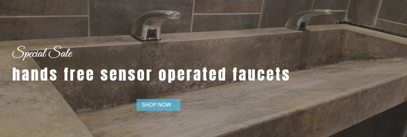 hands free sensor operated faucets