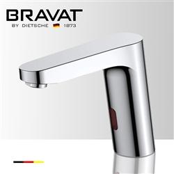 Bravat Commercial Deck Mount Chrome Automatic Motion Sensor Faucet